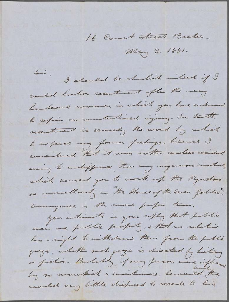 Oliver, Peter, ALS to NH. May 9, 1851.