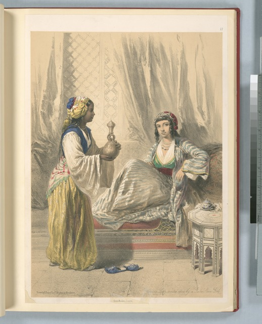 Cairine lady waited upon by a Galla slave girl