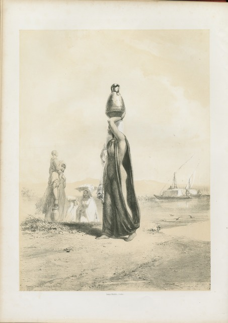 Female of the Middle class drawing water from the Nile