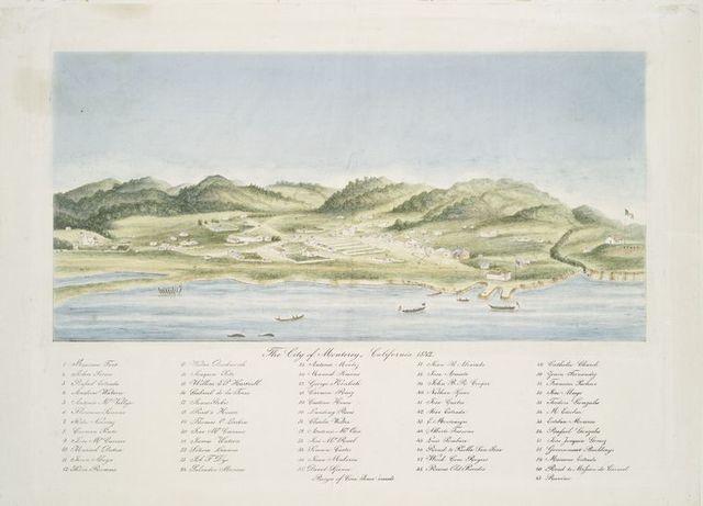The city of Monterey, California 1842.
