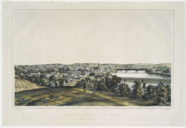View of Haverhill, Mass, from Silver Hill, Nov. 1850.