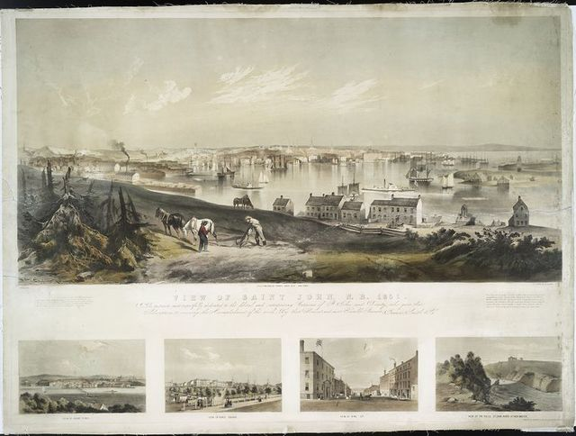 View of Saint John.  N.B. 1851.