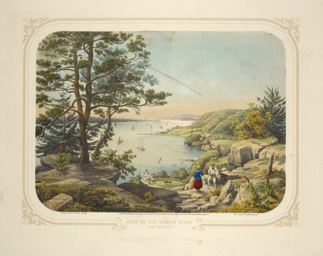 View of the Hudson River from Fort Lee. New-York