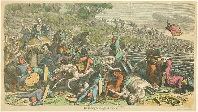 Die Phalanx im Kampfe mit Persern