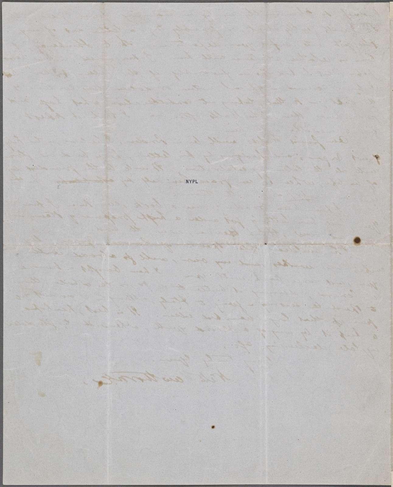 Greenwood, Grace [Sara Jane Clarke Lippincott], ALS to. Apr. 17, 1852.
