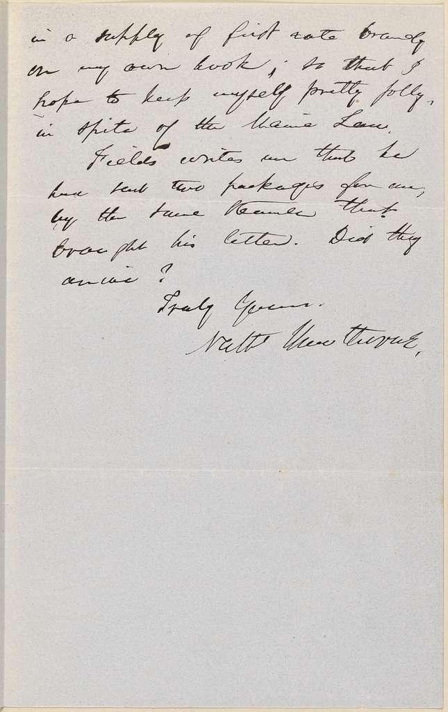 Ticknor, [William D.], ALS to. Jul. 24, 1852.
