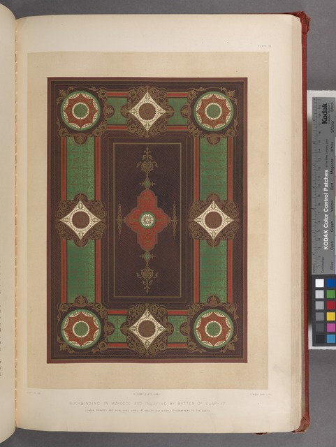 Bookbinding in Morocco and inlaying by Batten of Clapham.