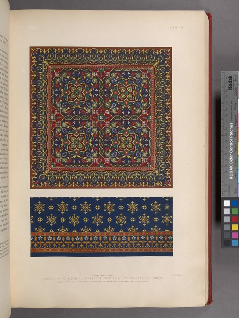 Carpets in the mediæval style designed by Pugin for Crace of London.