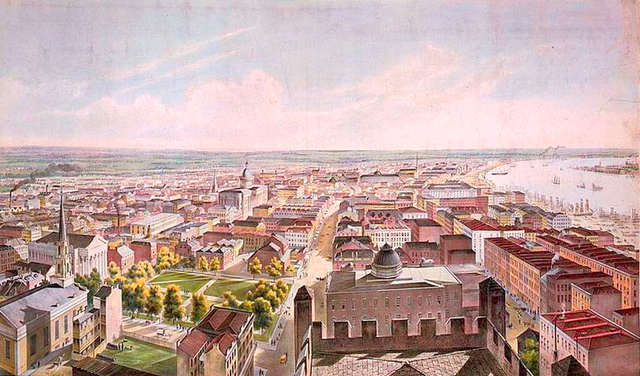 New Orleans from St. Patrick's Church 1852.