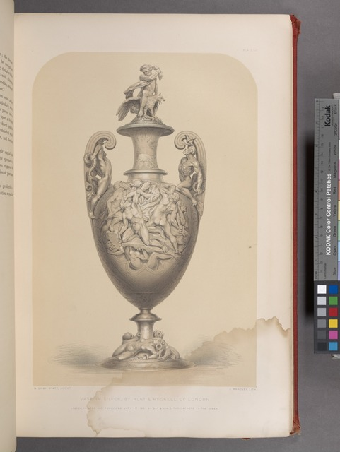 Vase in silver, by Hunt & Roskell of London.