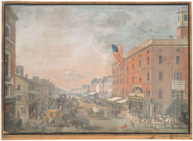 Baltimore Street, looking west from Calvert Street.