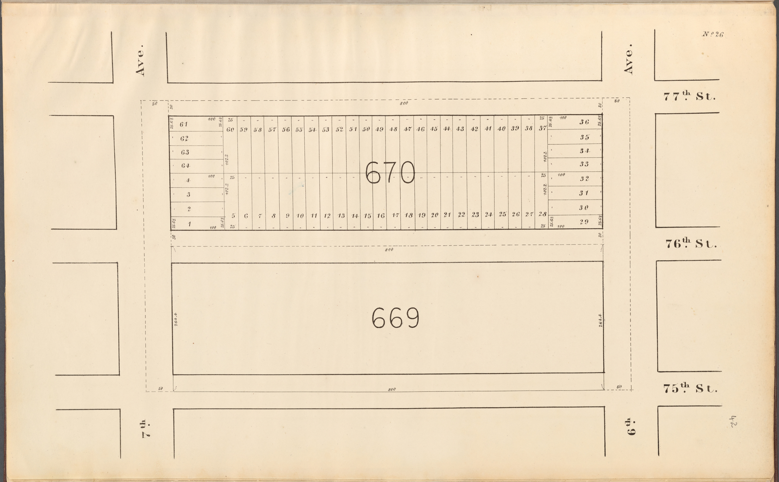 Central Park Planning Map No. 26: Bounded by 77th Street, 6th Avenue, 75th Street and 7th Avenue