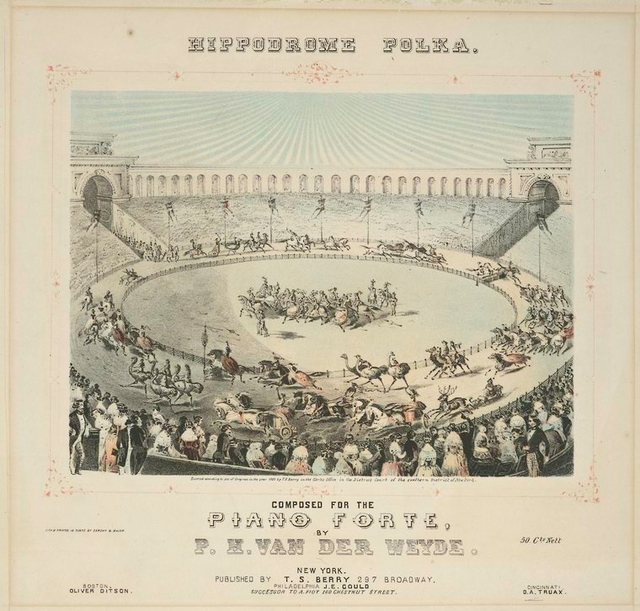 Hippodrome polka. Composed for the piano forte...