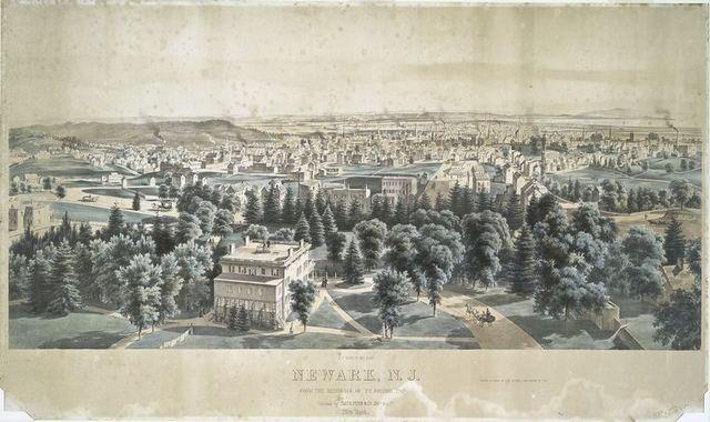 Newark, N.J. from the residence of T.V. Johnson, Esqr.