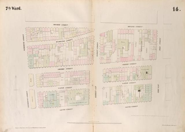 [Plate 14: Map bounded by Monroe Street, Pike Street, South Street,  Catherine Street.]