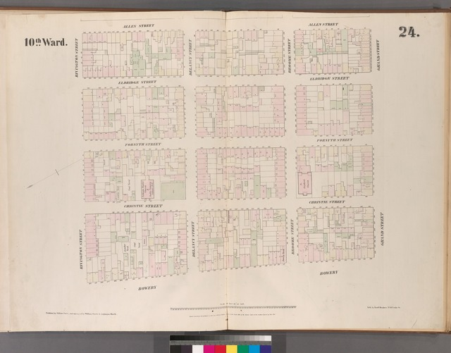 [Plate 24: Map bounded by Bowery, Rivington Street, Allen Street, Grand Street.]
