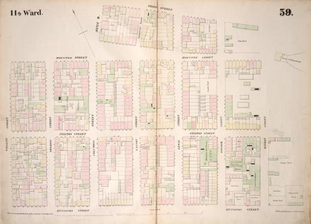 [Plate 39: Map bounded by Houston Street, Avenue D, 3rd Street, East River, Rivington Street, Willett Street.]