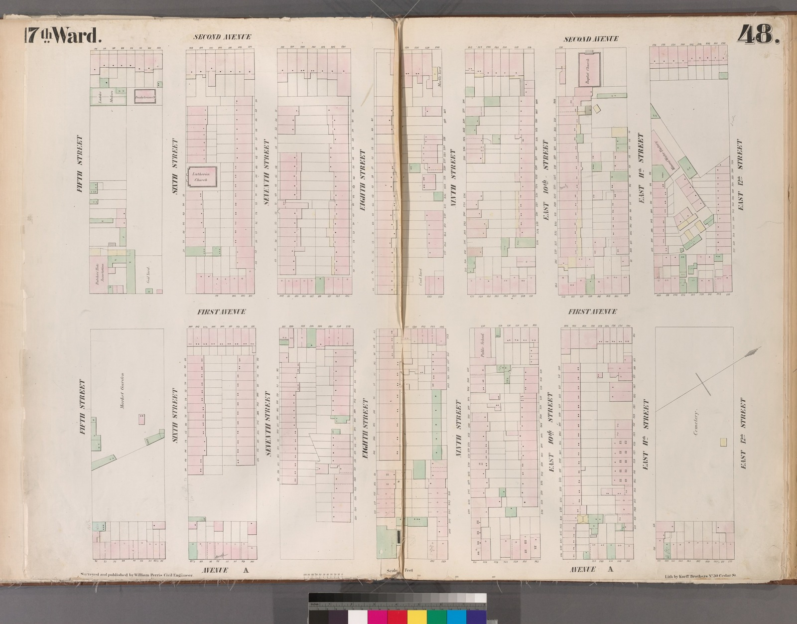 [Plate 48: Map bounded by East 12th Street, Avenue A, Fifth Street, Second Avenue.]