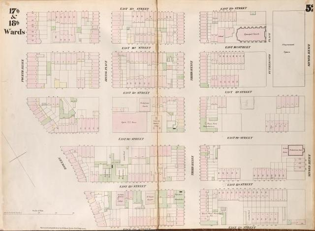 [Plate 52: Map bounded by East 17th Street,  Second Avenue, East 12th Street, Bowery, Fourth Avenue.]