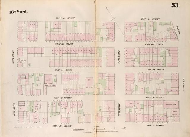[Plate 53: Map bounded by West 18th Street,  East 18th Street, Broadway, Union Place, East 14th Street, West 14th Street, Sixth Avenue.]