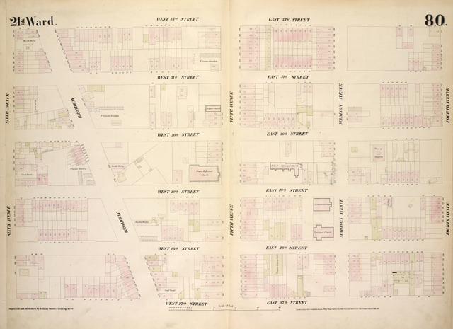 [Plate 80: Map bounded by West 32nd Street, East 32nd Street, Fourth Avenue, East 26th Street, West 26th Street, Broadway, Sixth Avenue.]