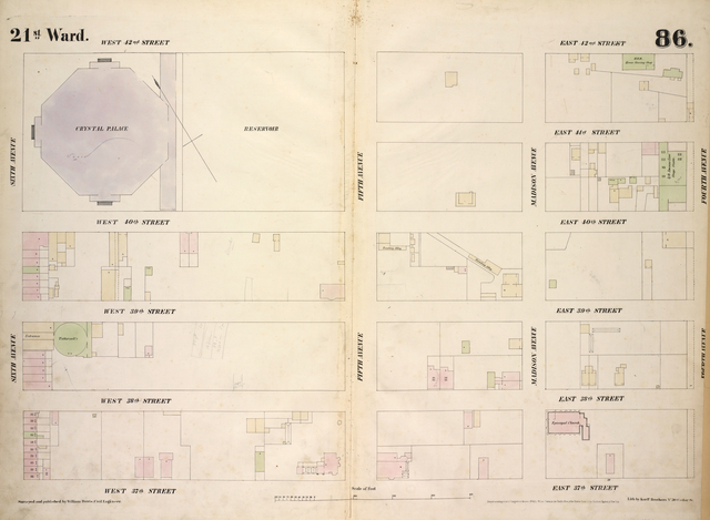 [Plate 86: Map bounded by West 42nd Street, East 42nd Street, Fourth Avenue, East 37th Street, West 37th Street, Sixth Avenue.]
