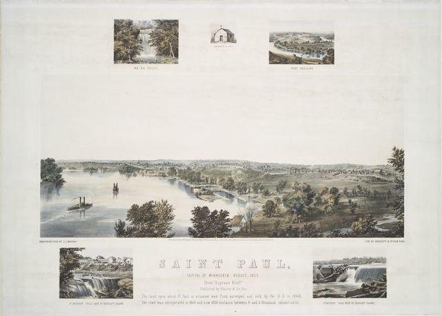 Saint Paul, capital of Minnesota August 1853.