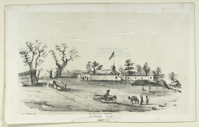 Sutters Fort [California] 1849.