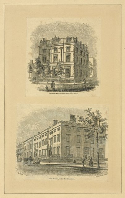 Corner of Fifth Ave. and Tenth-Street; Fifth Avenue, corner Twelfth-street