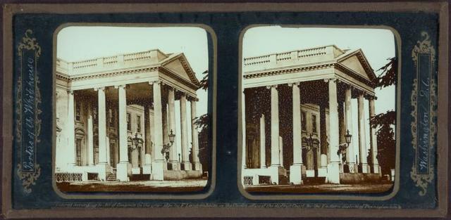Portico of the White House. Washington, D. C.