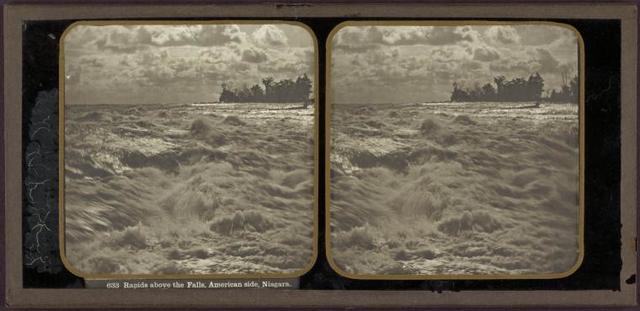 Rapids above the falls, American side, Niagara.