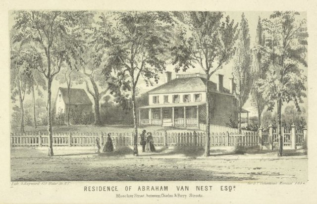 Residence of Abraham Van Nest Esqr. Bleecker St. between Charles & Perry Streets