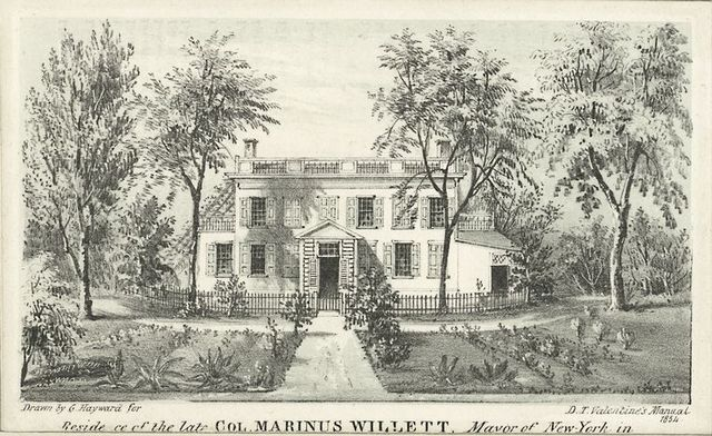Residence of the late Col. Marinus Willett, Mayor of New York in [1807-1808]