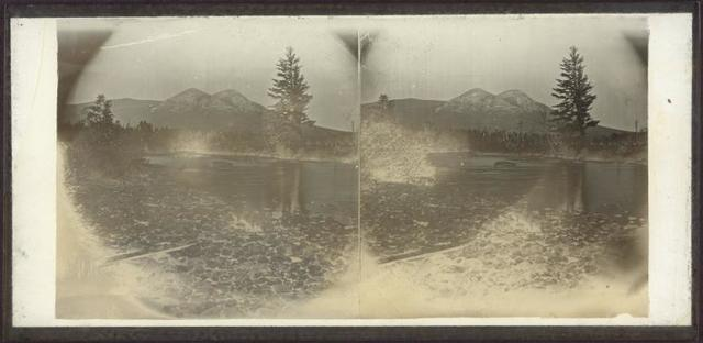 [River and mountain, unidentified location.]