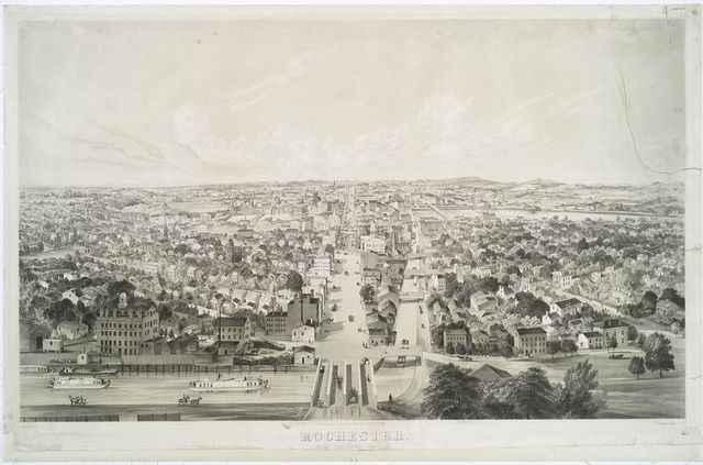 Rochester.  From the west, 1853.