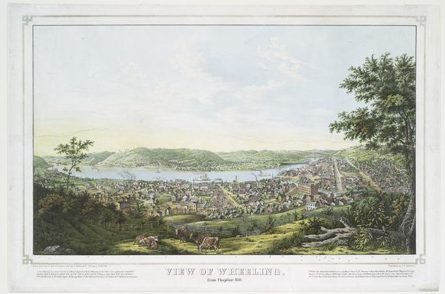 View of Wheeling [West Virginia].  From Chapline Hill.