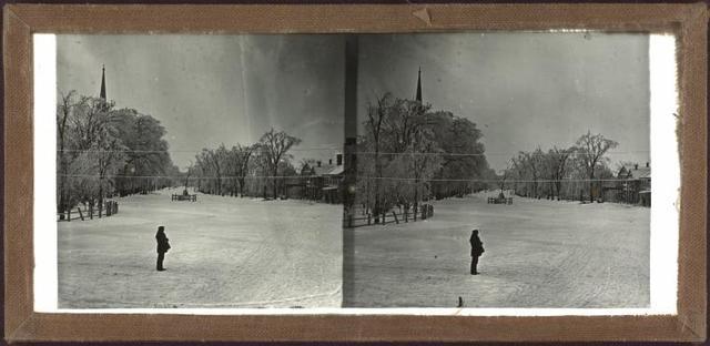 [Winter scene, unidentified location.]