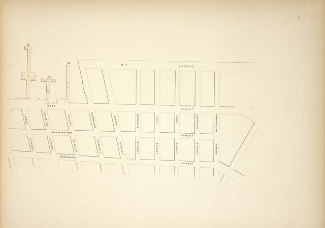 [Map bounded by Pier - Line 52-54, 13th Avenue, Gansevoort Street, Greenwich Street, Amos Street; Including West Street, Washington Street, Charles Street, Ferry Street, Hammond Street, Bank Street, Bethune Street, Troy Street, Jane Street, Horatio Street]