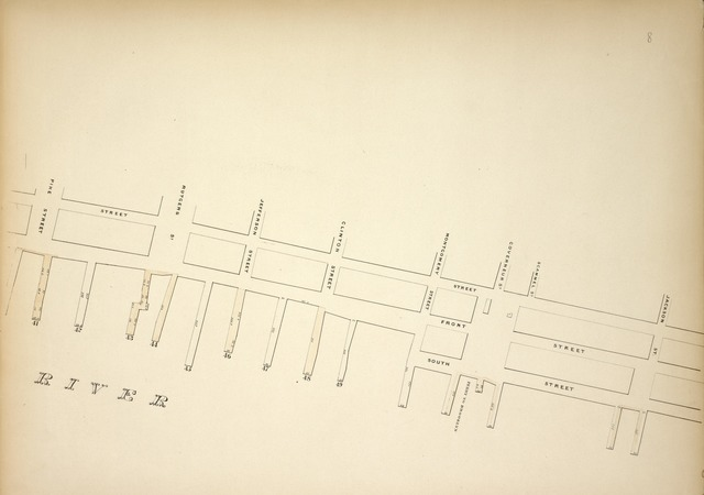 [Map bounded by Water Street, Jackson Street, Pier- Line 41-49, Pike Street; Including Front Street, South Street, Rutgers St, Jefferson Street, Clinton Street, Montgomery Street, Ferry to Brooklyn, Governeur St, Scammel St]