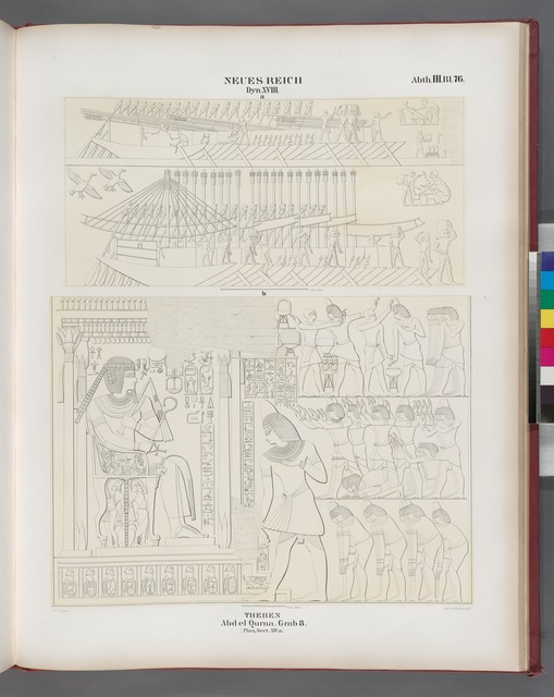 Neues Reich. Dynastie  XVIII. Theben [Thebes]. Abd el Qurna: Grab 8. [Plan, Sect. XIV. a.]