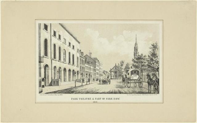 Park Theatre & part of Park Row. 1831