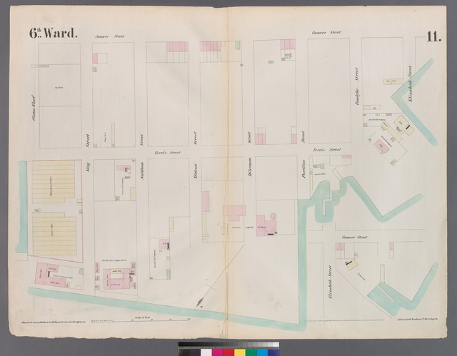 [Plate 11: Map bounded by  Buttermilk Channel, Clinton Wharf, Conover Street, Red Hook.]