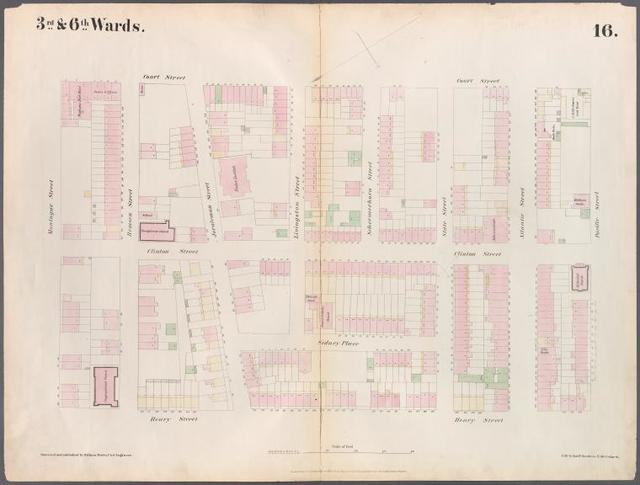 [Plate 16: Map bounded by Montague Street, Court Street, Atlantic Street, Henry Street.]
