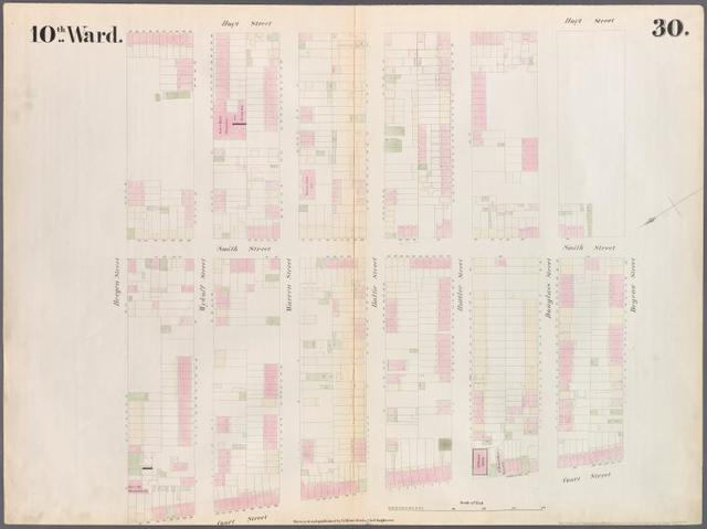 Plate 30: Map bounded by Bergen Steet, Hoyt Street, Degraw Street, Court Street