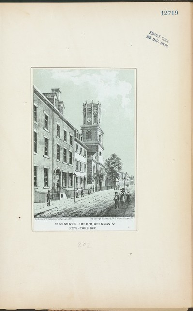 St. George's Church, Beekman St., New-York, 1831.
