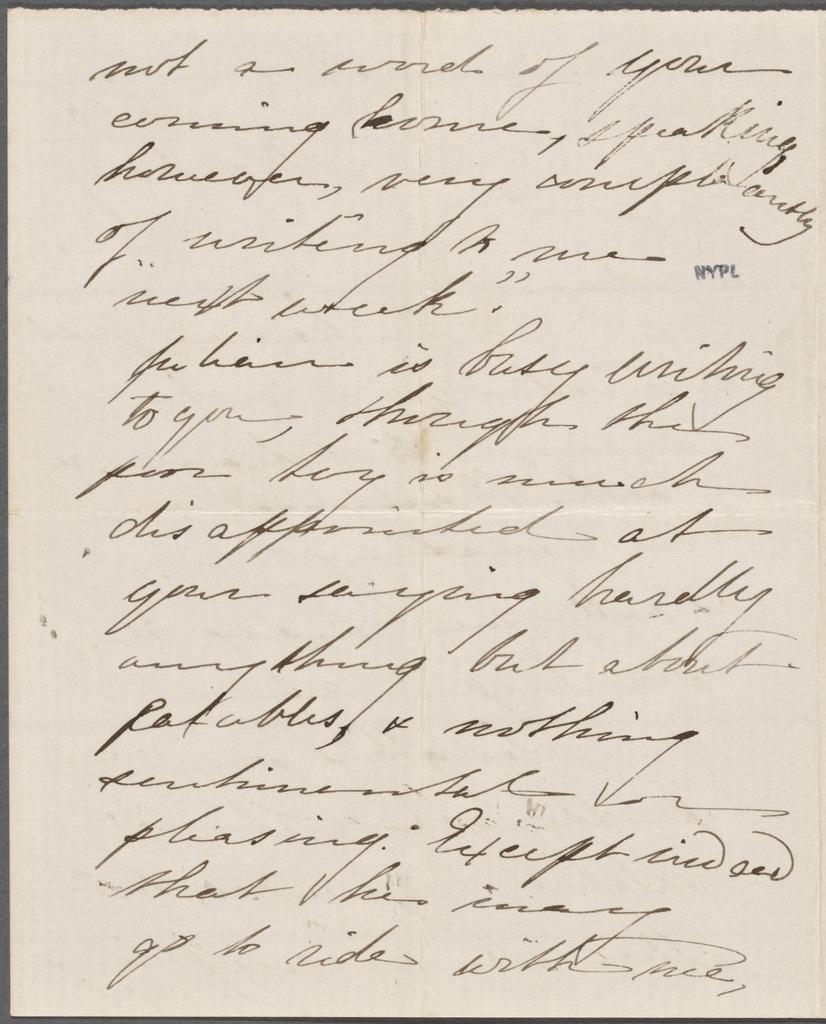 Hawthorne, Una, ALS to NH. Aug. 18, 1856.