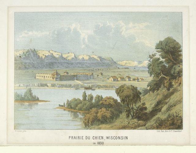 Prairie du Chien, Wisconsin in 1830.