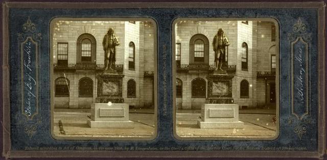 Statue of Benj. Franklin. Boston, Mass.