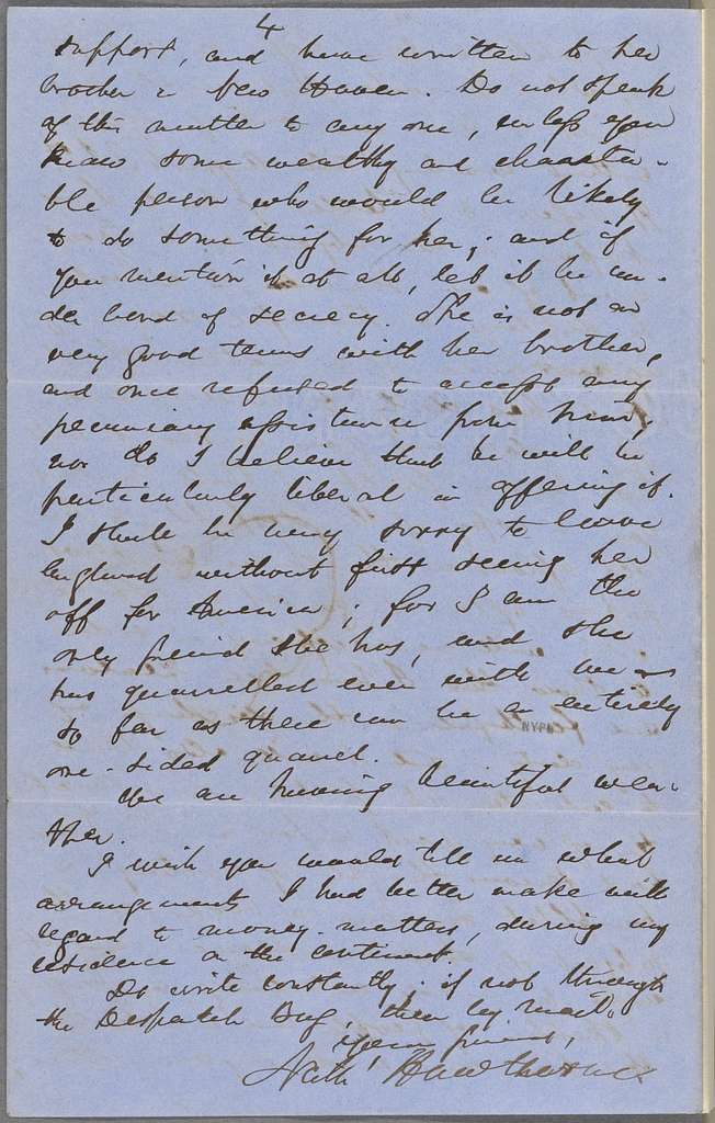 Ticknor, [William D.], ALS to. Jun. 19, 1857.