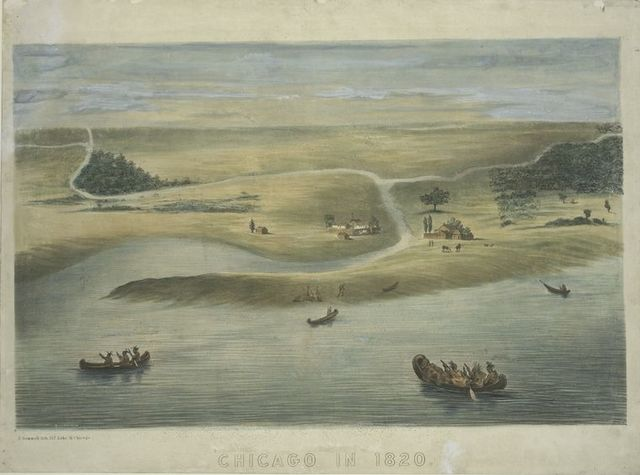 Chicago in 1820.